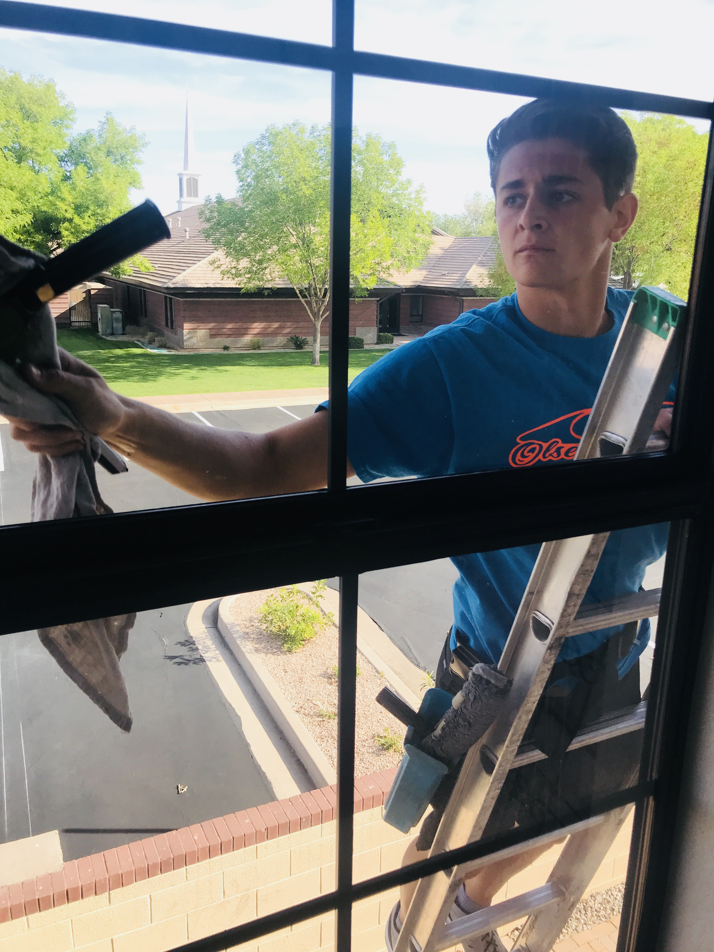 2-story window cleaning