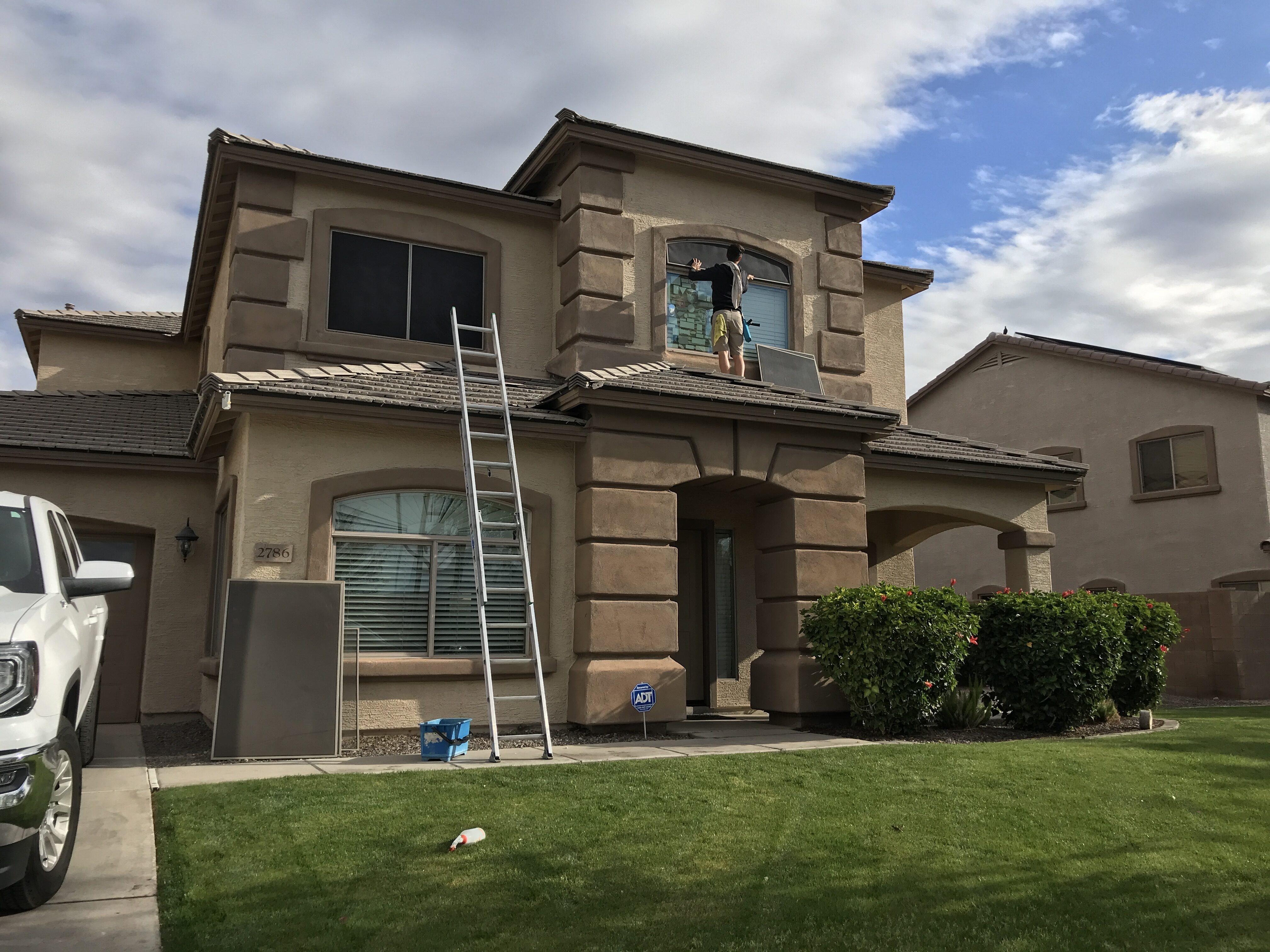 Sun Screen Cleaning in Gilbert, Arizona