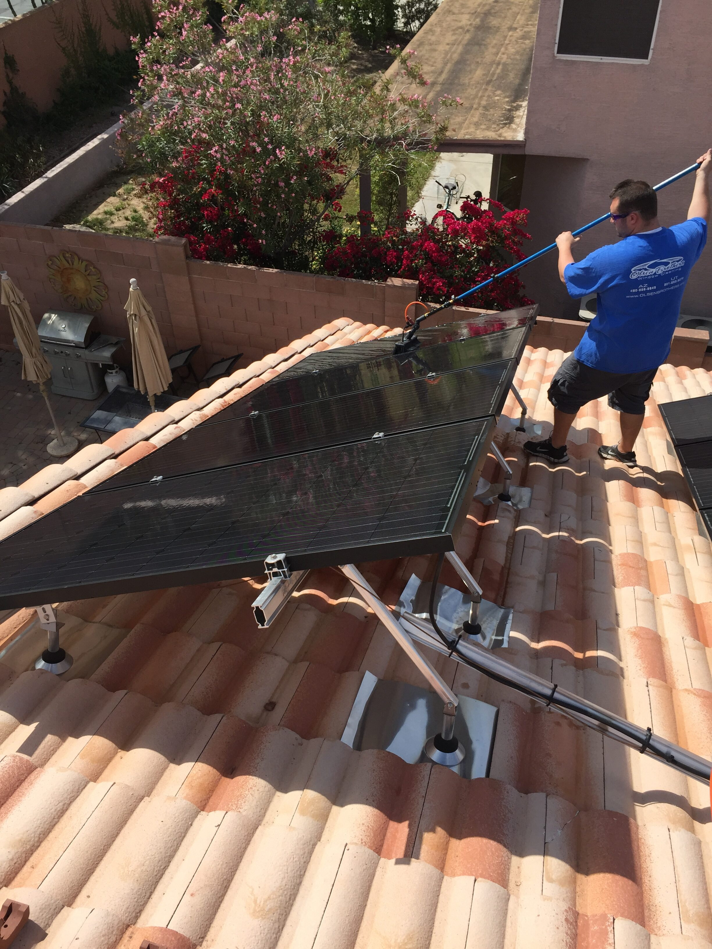 solar panel cleaning in mesa, az