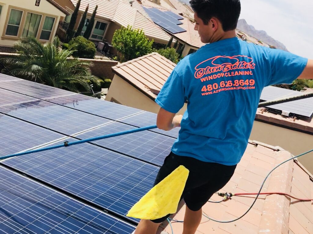 Solar Panel Cleaning in Gilbert, Arizona